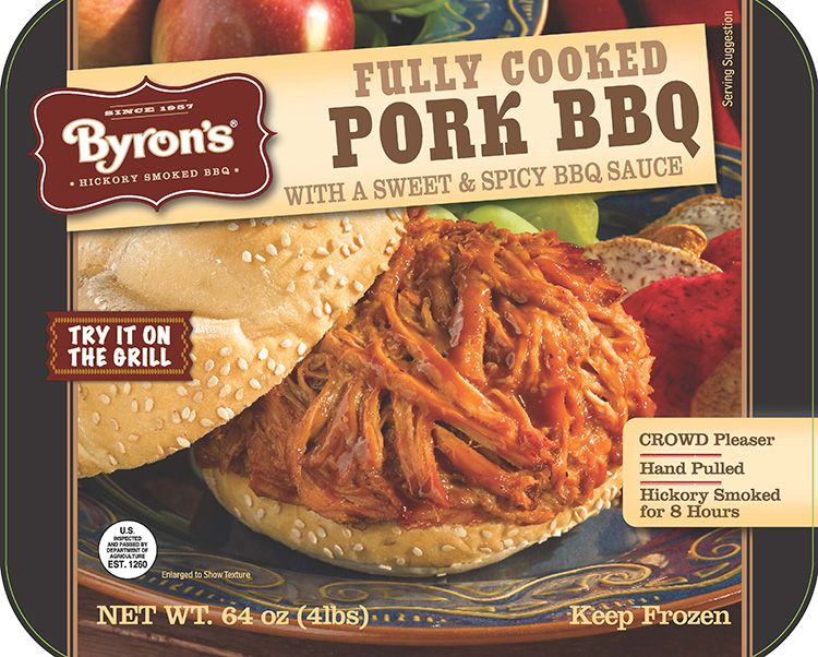 ... Bar-B-Q Pork Tray · Fully cooked · Hickory smoked · Hand-pulled