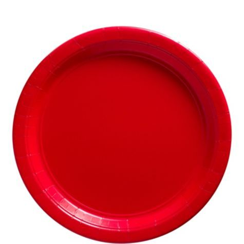 Red Paper Lunch Plates - Party City  sc 1 st  Pinterest & Red Paper Lunch Plates - Party City | Christianu0027s 1st Birthday ...