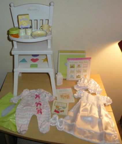 bitty baby high chair shapes big joe chairs bed bath and beyond powerstep protech full length men s 5 1 2 women 7 american girl all bowl cup cereal sleepers lot boards