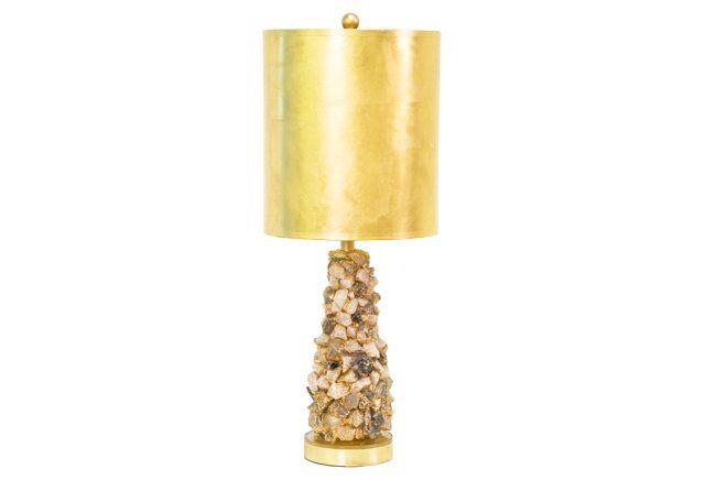 Astoria Quartz Table Lamp Table Lamp Lamp Drum Shade
