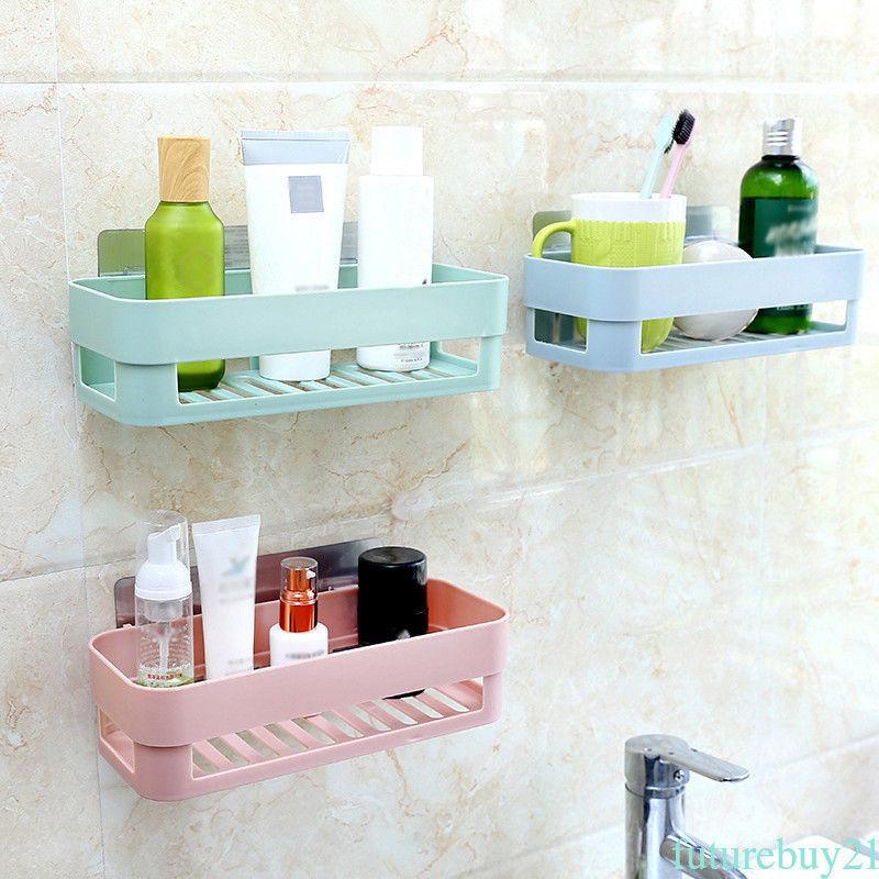 2 77 Hot Wall Stick Type Bathroom Kitchen Corner Storage Rack