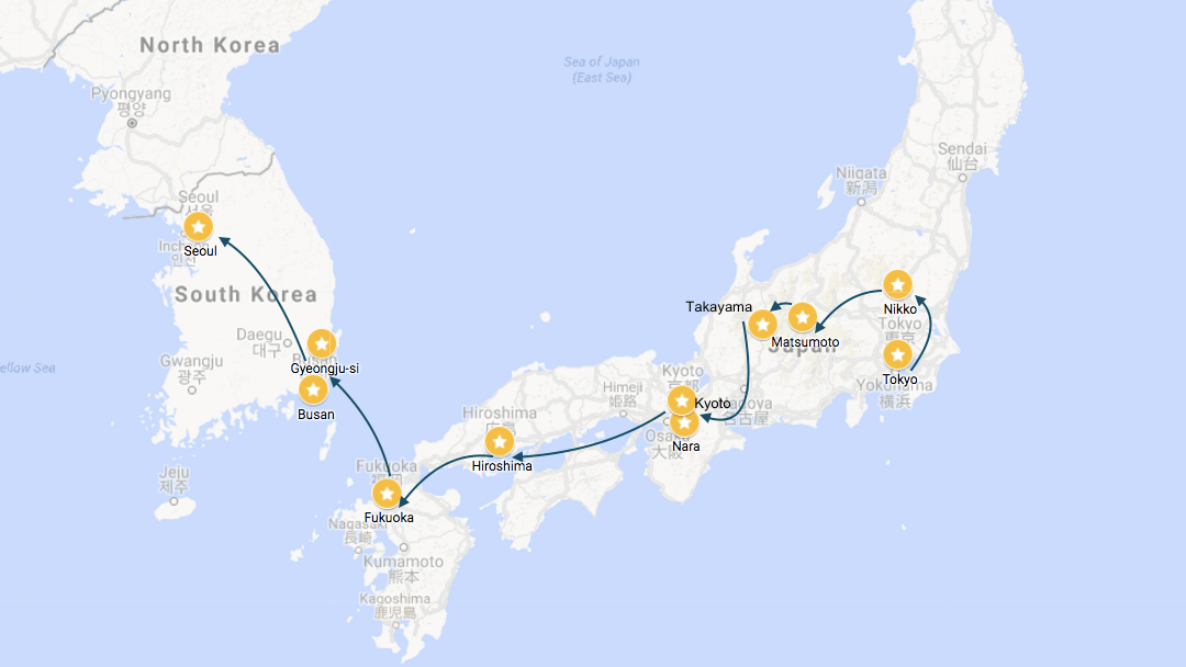Suggested Itinerary: Northeast Asia from Taipei to Seoul via