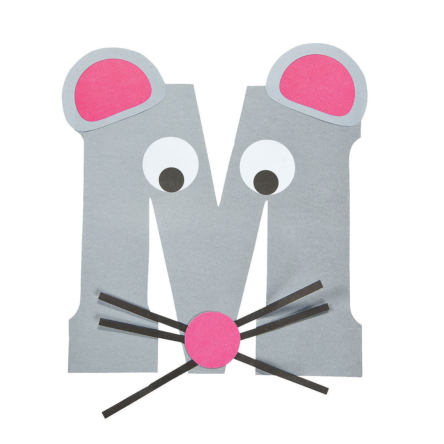 """""""M Is For Mice"""" Letter M Craft Kit - OrientalTrading.com"""