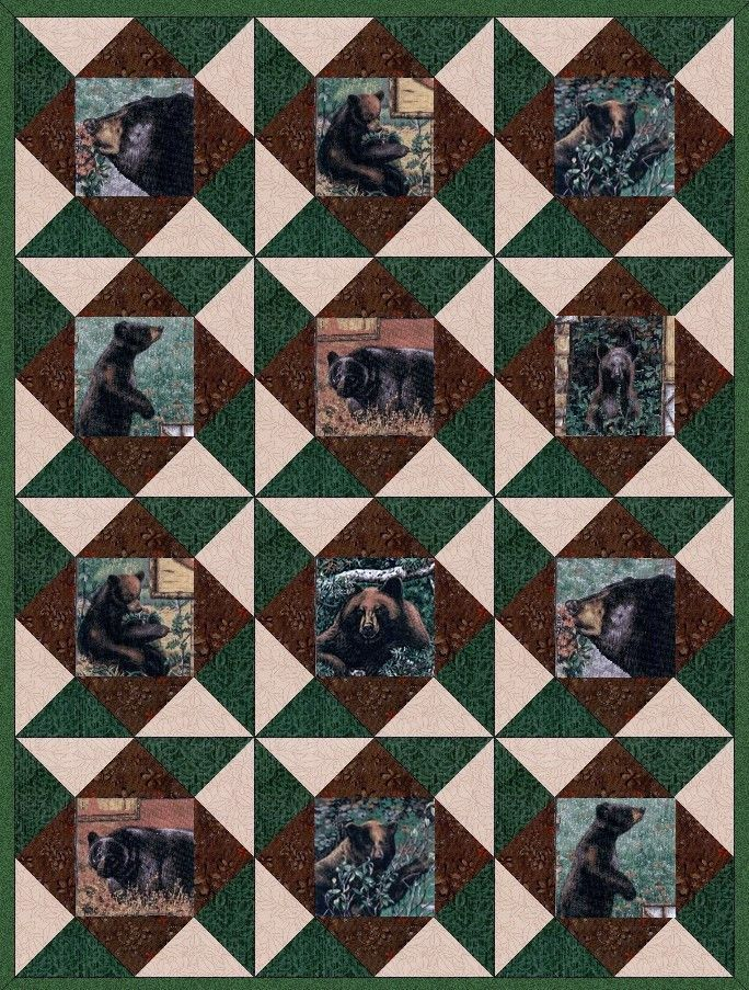 Black Bear Mountain Pre-Cut Quilt Kit V2 | Bears, Shopping and Black : precut quilt kit - Adamdwight.com
