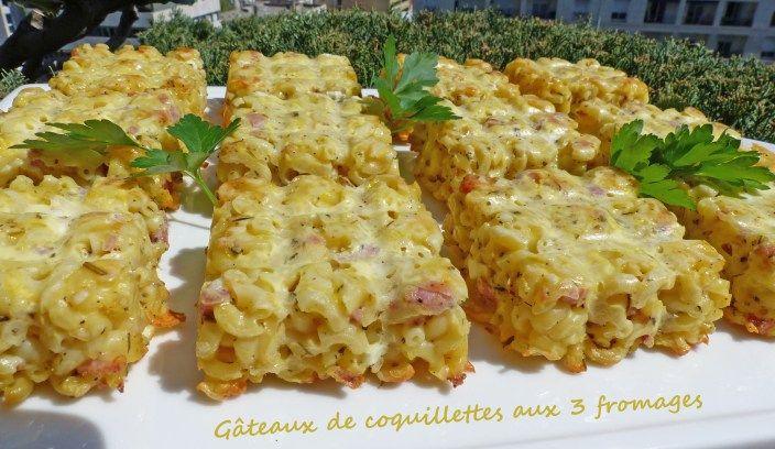 Gâteaux de coquillettes aux 3 fromages – Foodista Challenge #62