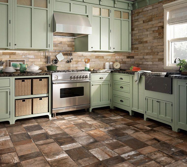 pavimento-cucina-rustica-piastrelle-cotto | Progettazione di ...