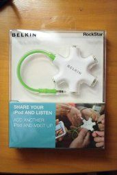 Amazon.com: Belkin RockStar 5-Way 3.5-mm Headphone Splitter (White) (Discontinued by Manufacturer): Electronics