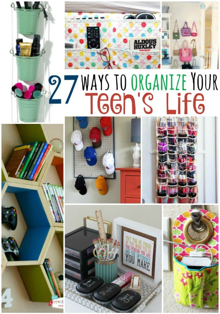 27 ways to organize your teen 39 s life for Organization ideas for teenage girl bedrooms