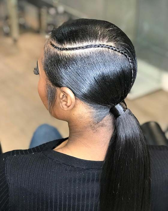 21 Sleek Ponytail Hairstyles Perfect For Any Occasion Ponytail Crazyforus Ponytailhairstyles Hair Hairstyles Hairstylesforwomen Hairstyl In 2020 Black Ponytail Hairstyles Ponytail Hairstyles Ponytail Styles