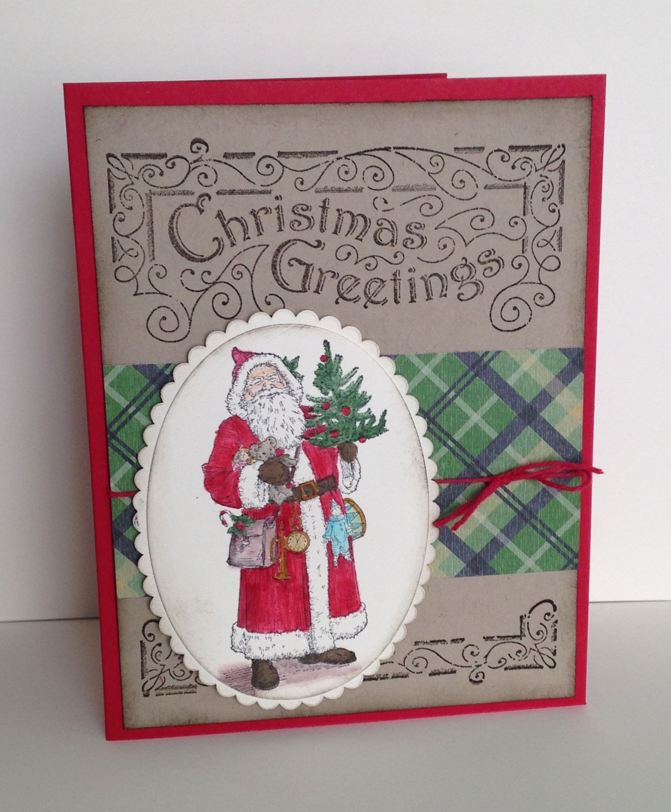 Stampin' With Jamie: Father Christmas stamp set and Warmth & Cheer DSP paper stack from Stampin' Up!