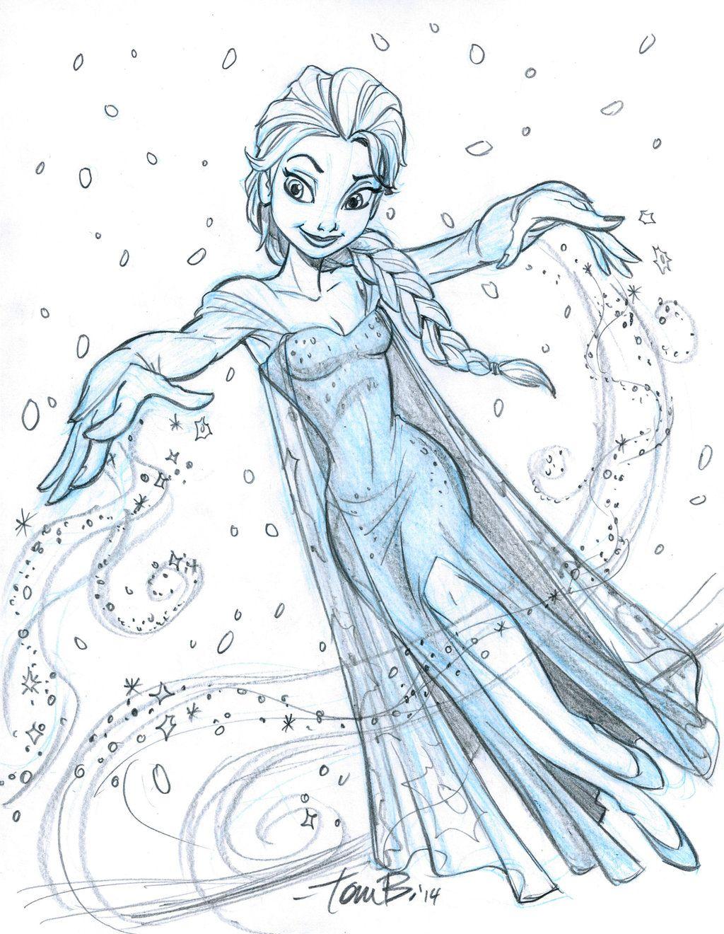 Elsa Sketch 2 Disney Drawings Disney Fan Art Disney Art