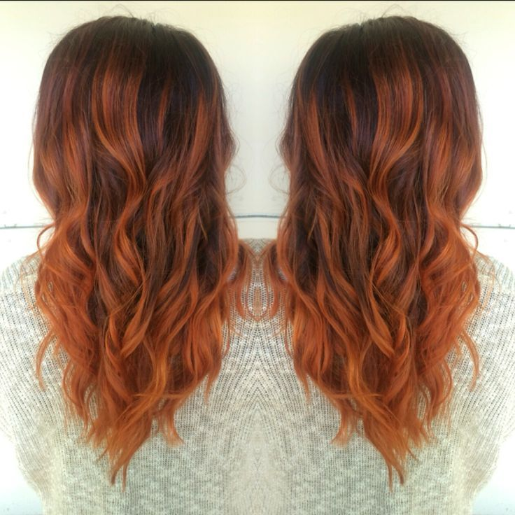 Copper Balayage Hair By Allison Varela With Images Copper