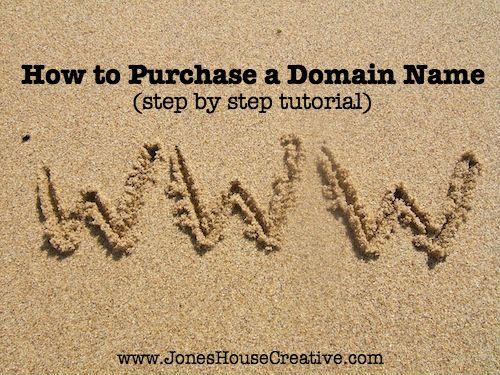 How to Purchase a Domain Name from JonesHouseCreative.com