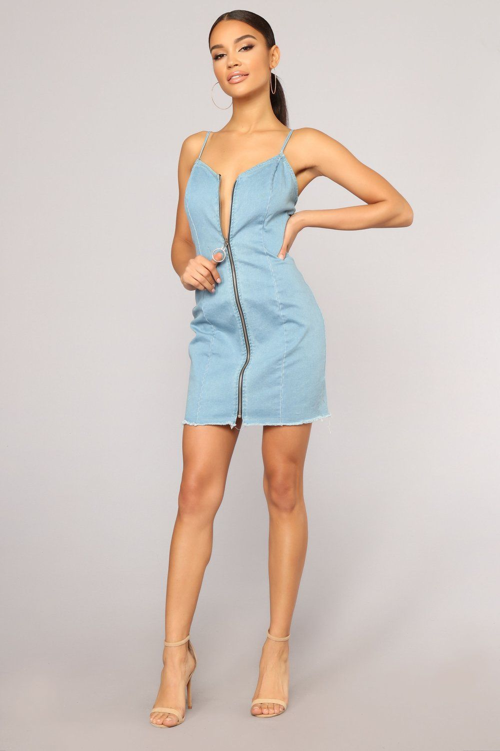 2a75a9a3239 Night Is Young Denim Dress - Light Wash in 2018