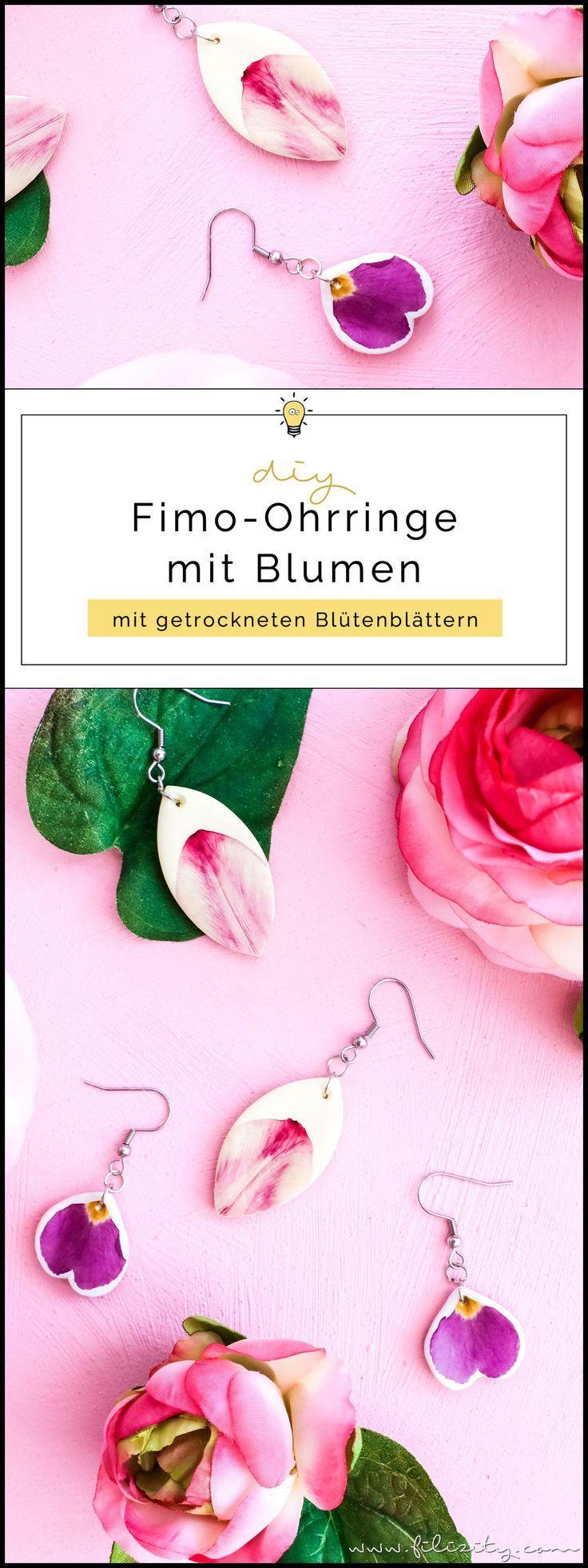 Photo of Enthält Werbung // DIY Fimo-Ohrringe mit Blumen selber machen | Filizity.com | DIY-Blog aus dem