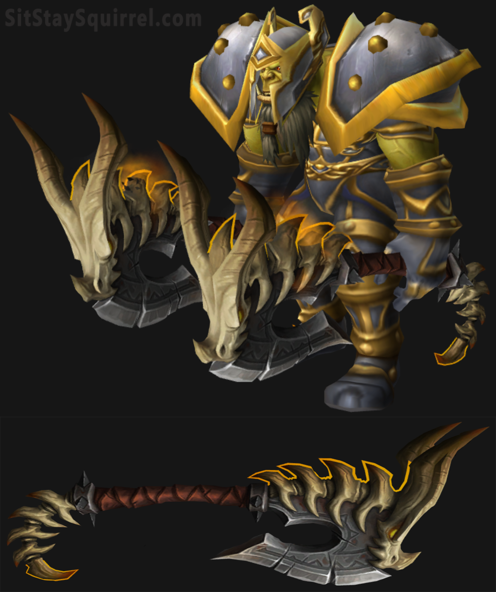 Orc Male Fury Warrior Transmog Artifact Set | Warcraft