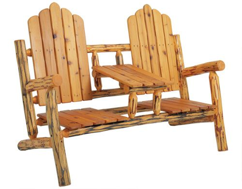 Charmant Rustic Log Adirondack Chair By Mountain Time Chairs Front Porch Furniture,  Rustic Log Furniture,