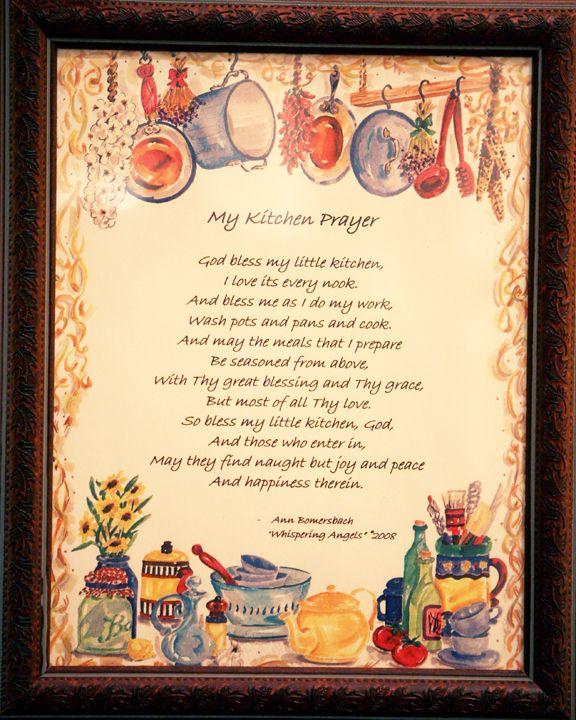 Kitchen Prayer Quotes: Kitchen Quotes, Kitchen