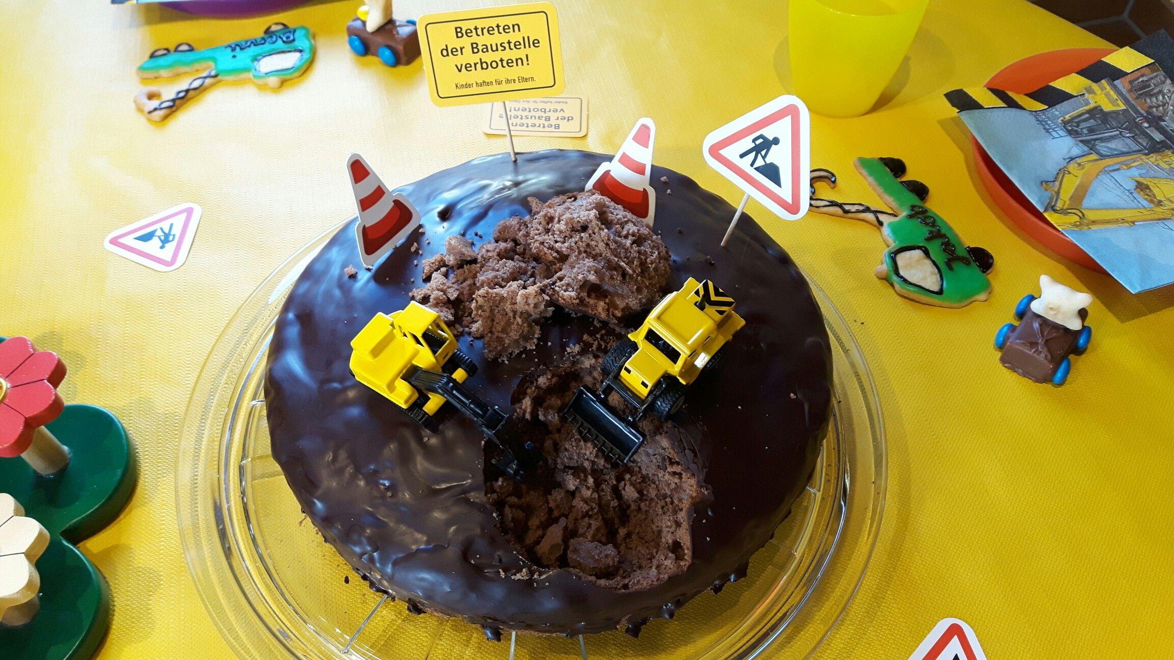 Baustellen Kuchen Kindergeburtstag Recipes Recipes