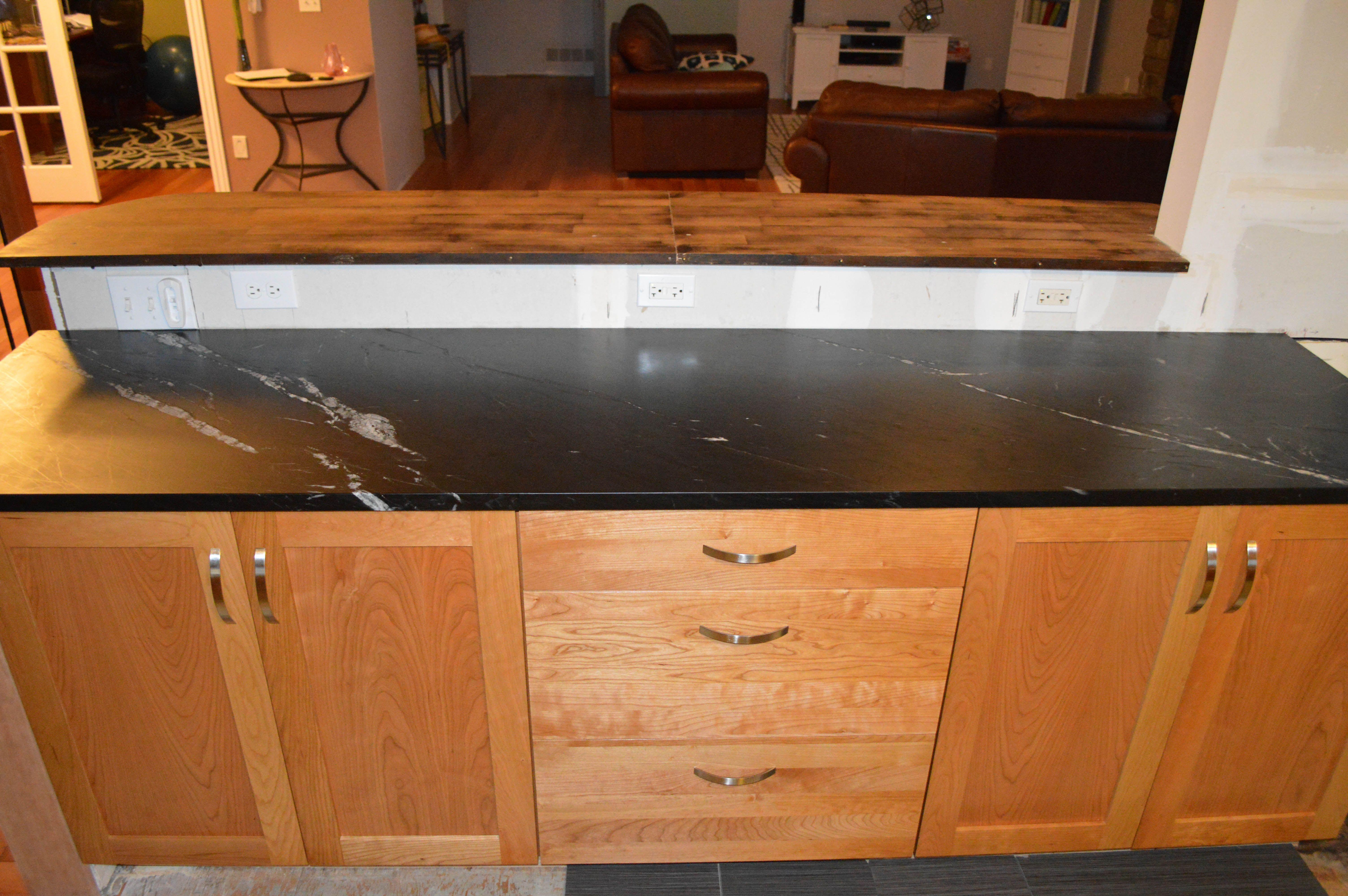 Perfect Cherry Cabinets From Barkercabinets.com U0026 Noire Soapstone Countertop From  Dorado Soapstone
