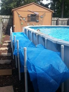 Solar cover holder (husband-made:) | Pool heater, Solar pool ...