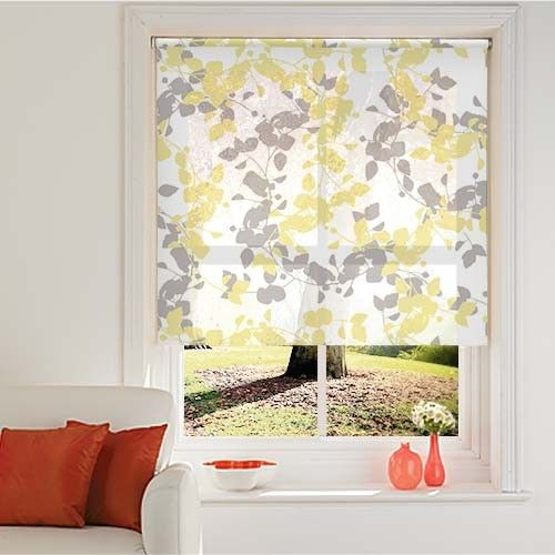 Good Beautiful Branch Yellow Roller Blind Web Blinds