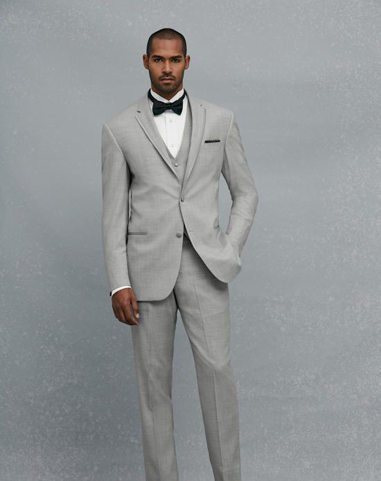 Jos. A. Bank Notch Lapel Gray Tuxedo Wedding Tuxedos + Suit photo ...