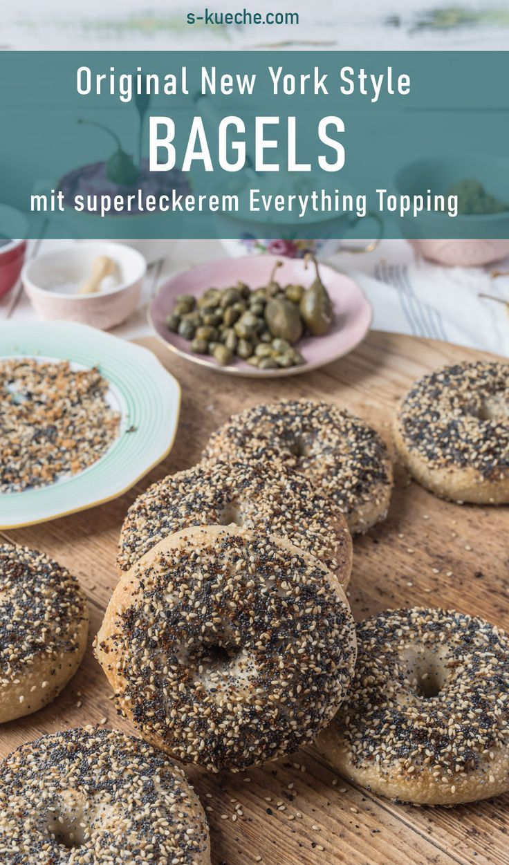 Original New York Style Bagels mit Everything Topping - s-Küche