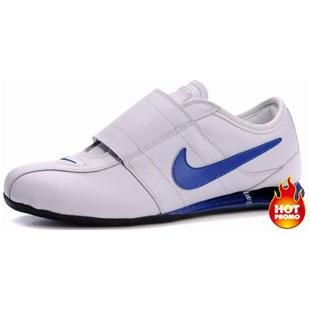 official photos 7388c 202de Mens Nike Shox R3 Velcro White Blue Black