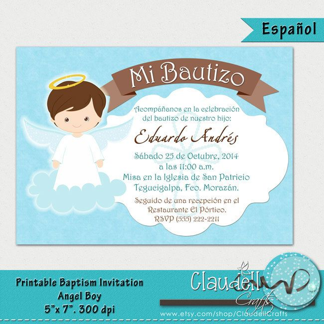 Baptism angel boy printable invitation card by claudellcrafts baptism angel boy printable invitation card by claudellcrafts stopboris Gallery