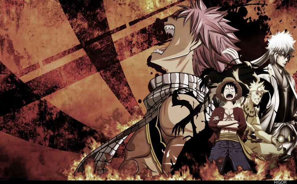 Naruto Bleach One Piece Fairy Tail Hd Wallpaper Anime Wallpaper