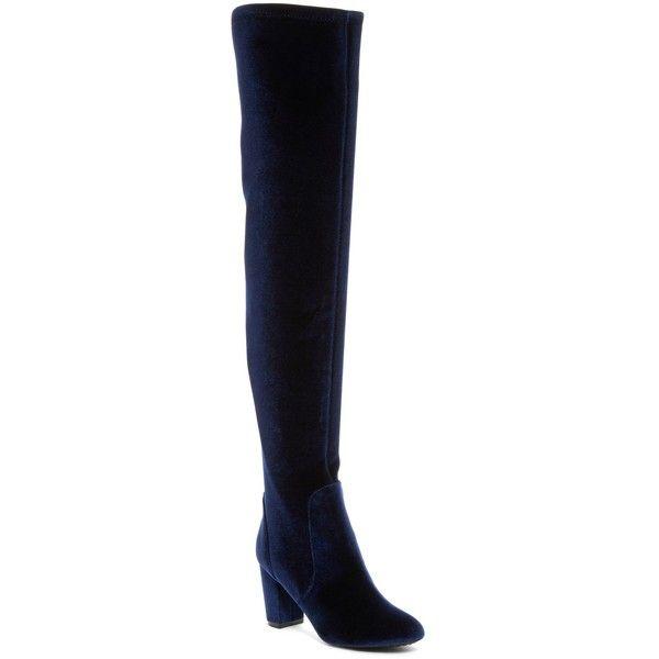 L4L Lex Velvet Over-the-Knee Boot foPy333l
