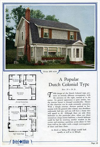 Gambrel Roof House Plans | Colonial Style House Plans
