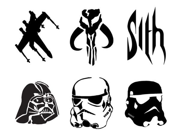 star wars pumpkin carving stencils sith darth vader stormtrooper clonetrooper for next years halloween - Star Wars Halloween Pumpkin Carving Patterns