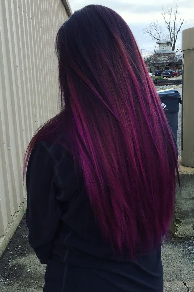 33 Cool Ideas Of Purple Ombre Hair Pinterest Purple Ombre Ombre
