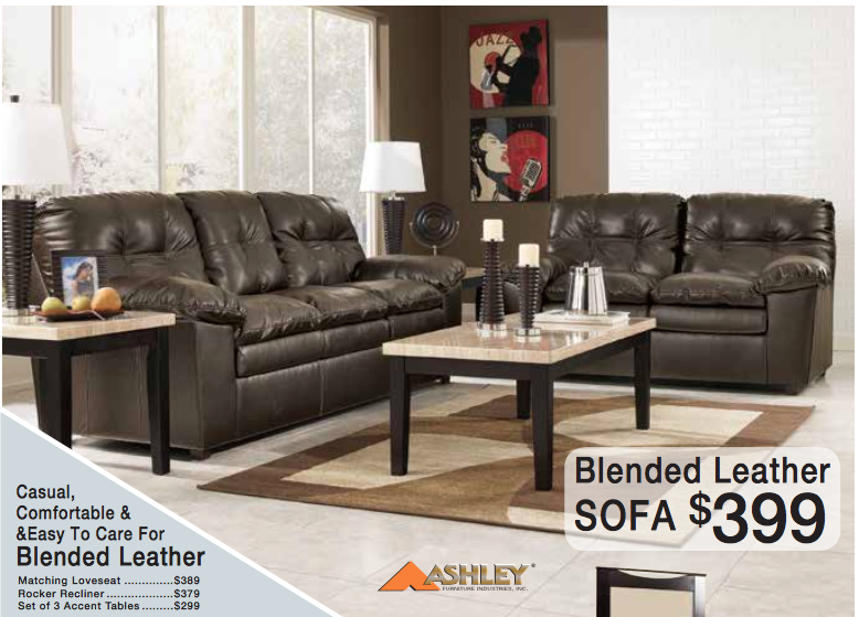 Blended Leather Sofa Only 399 This Month Kimbrell S June