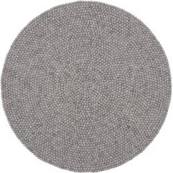 Photo of myfelt Carl felt ball rug round Ø 90cm myfelt