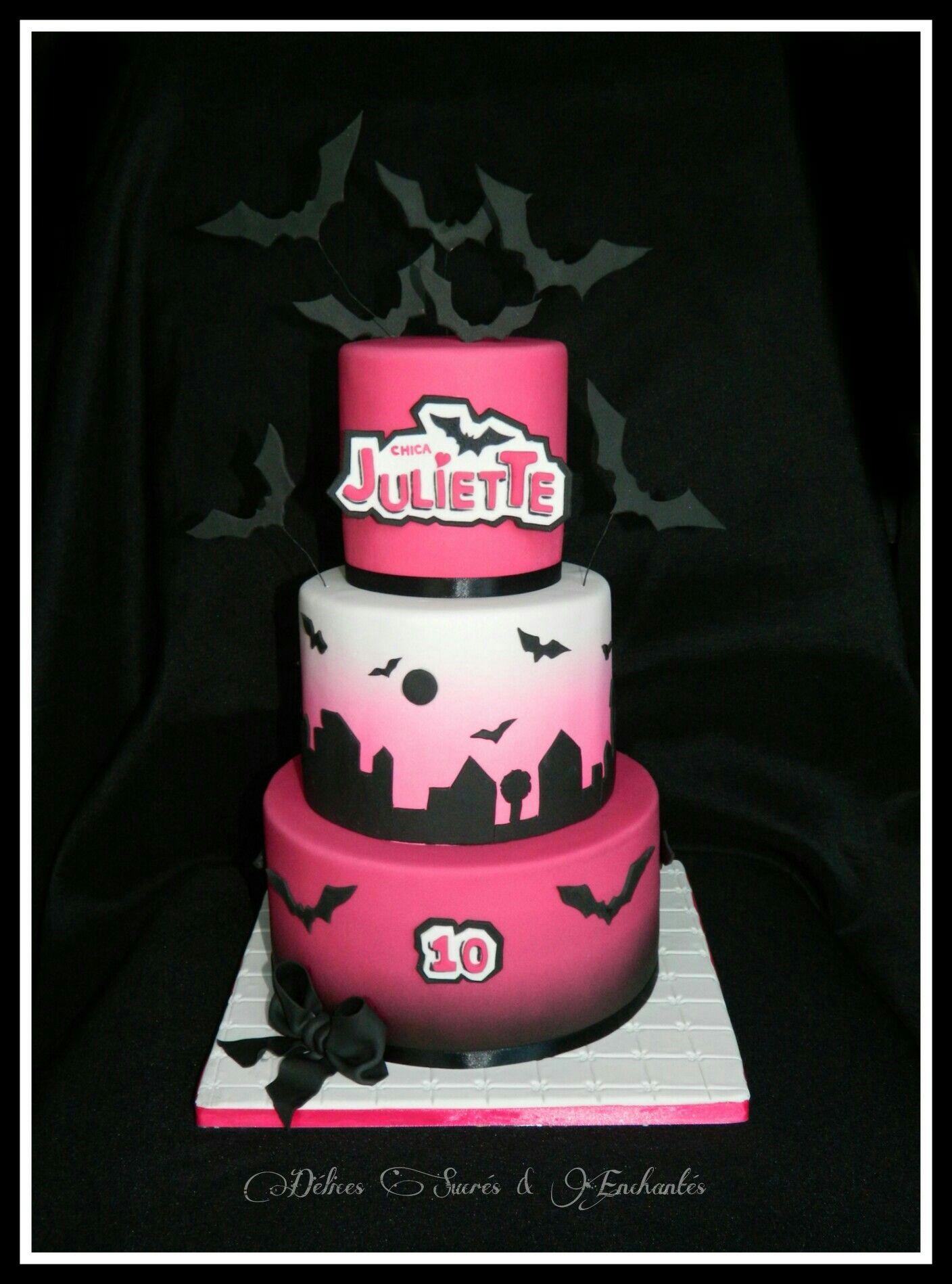 Cake Chica Vampiro 1 Dlices Sucrs Enchants Pinterest Cake