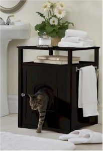 Designer Litter Box Furniture Cabinet | ... Cat Litter Box.Convient Feline Poop Box.Pet Cabinet Table.Furnitur e