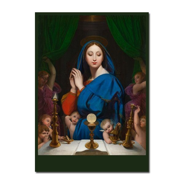 VIRGIN OF THE ADOPTION MARY PAINTING BIBLE CATHOLIC ART REAL CANVAS PRINT