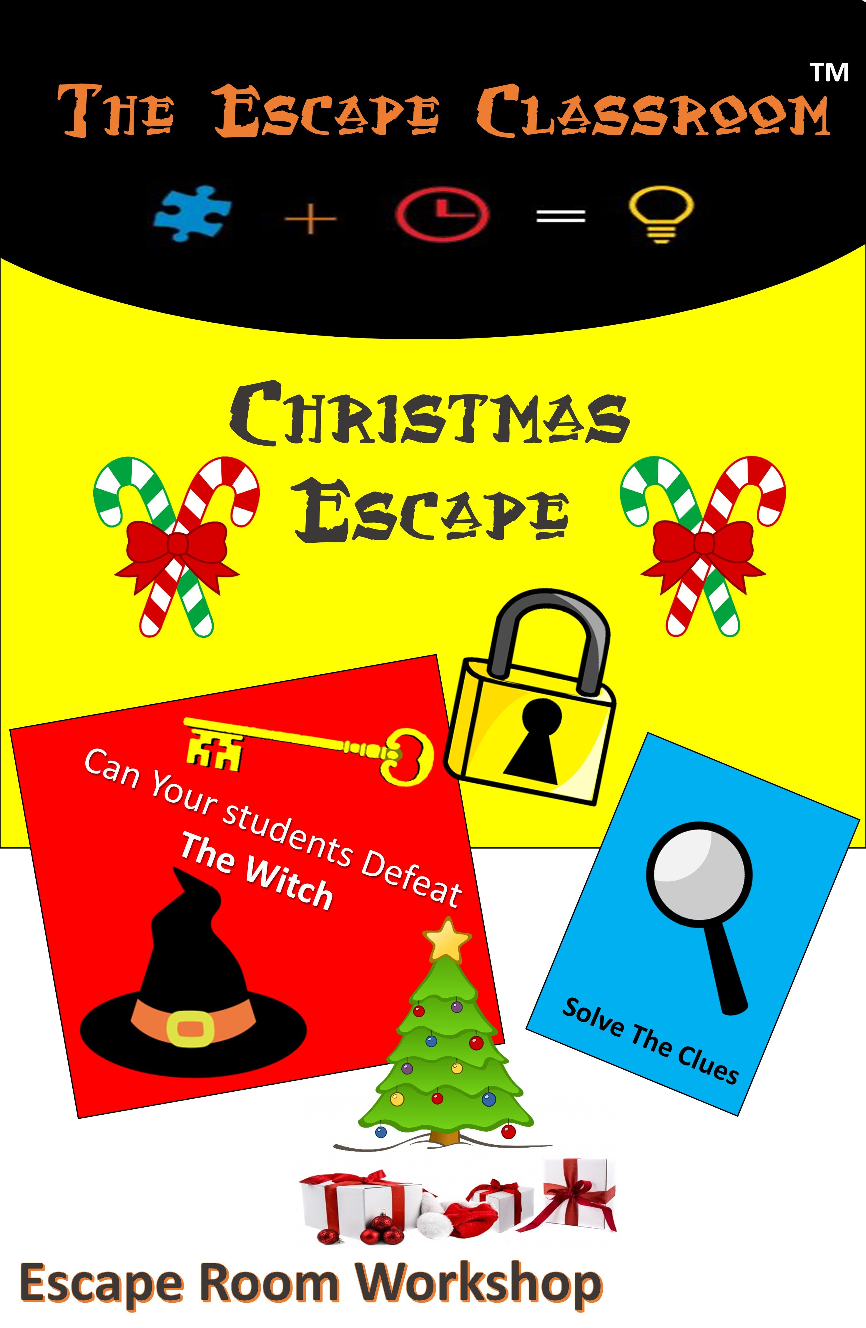 Christmas Escape Room From The Escape Classroom Escape Room Escape The Classroom Escape Room Game