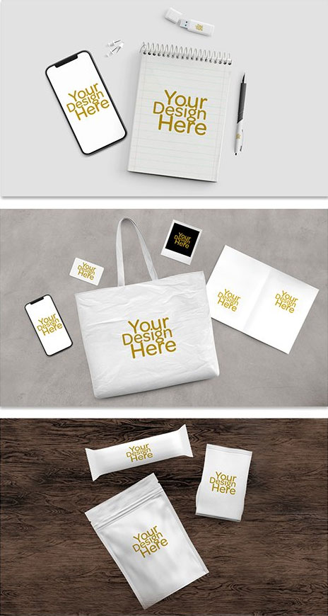Business Collateral Merchandise Mockup Set Free Psd Templates Psd Template Free Free Graphic Design Globe Logo