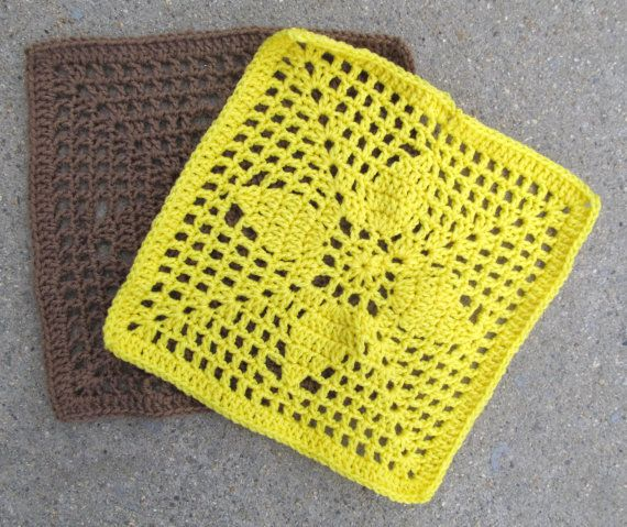 Pinecone 12 crochet Square pattern | Muestras de crochet | Pinterest ...