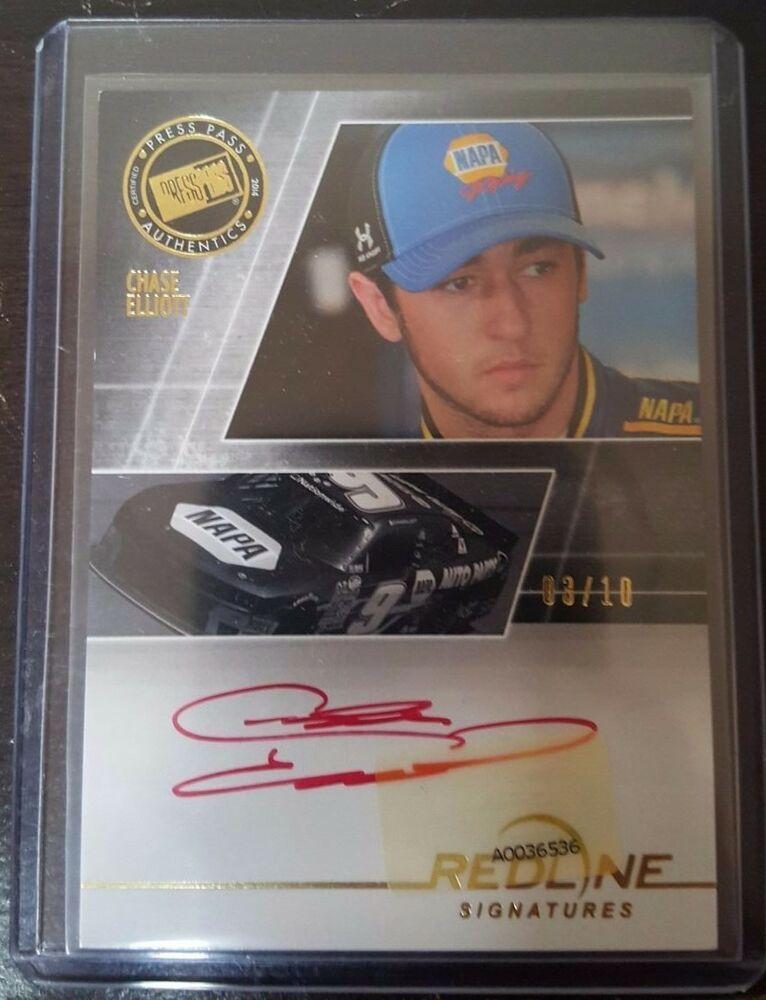Chase Elliott Press Pass Autograph Card NASCAR Hendrick