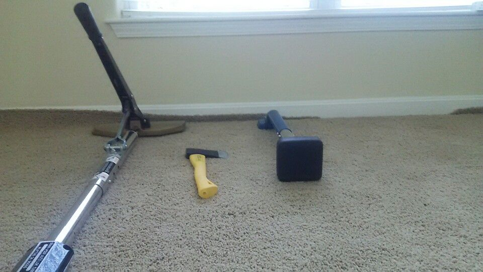 "Your carpet should be ""drum tight."" Using a power stretcher is the ONLY way to achieve this. www.carpetrxoflouisville.com"