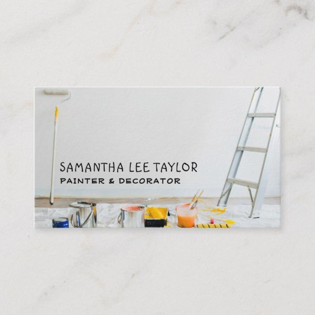 Painting Equipment Painter Decorator Business Card Zazzle Com Decorator Business Card Painter And Decorator Painter Business Card