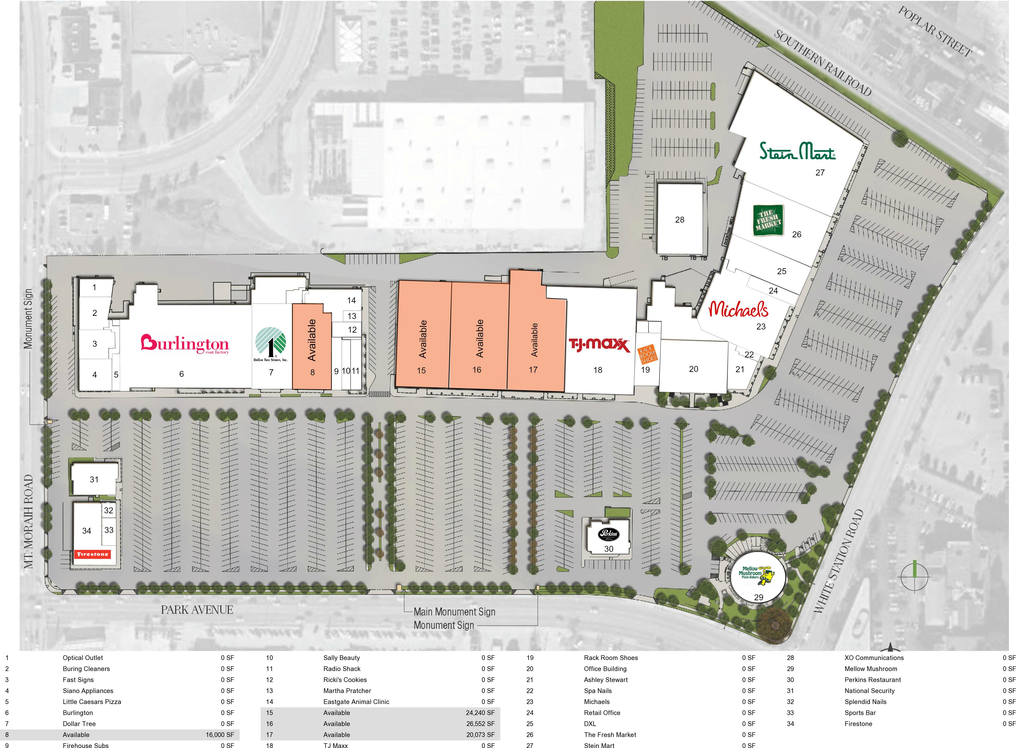 Memphis Tn Eastgate Shopping Center Retail Space For Lease Shopping Center Retail Space For Lease Property Search