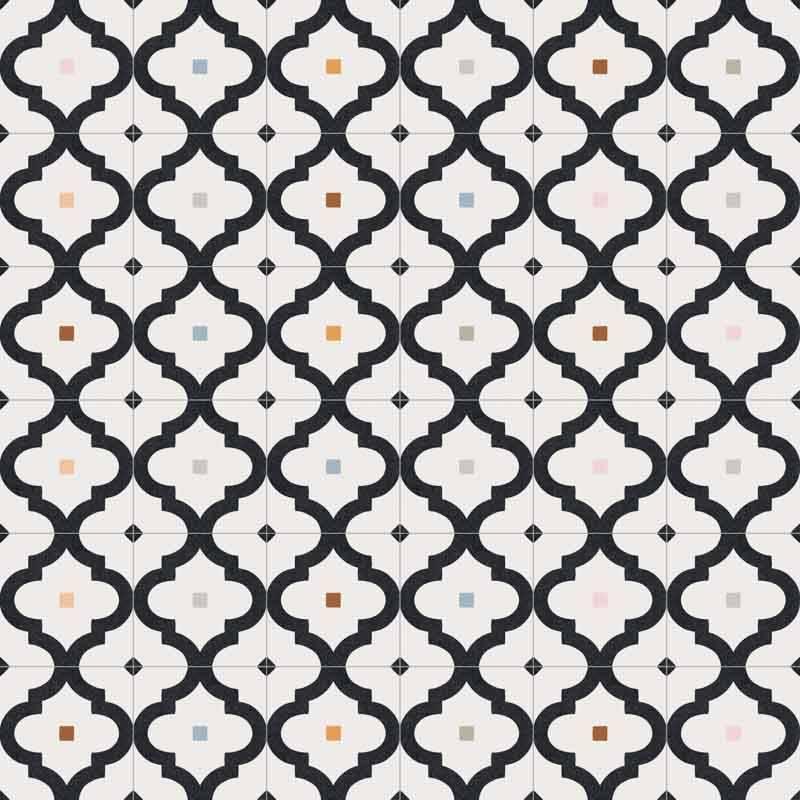 Carrelage Imitation Carreaux De Ciment A Motif Geometrique