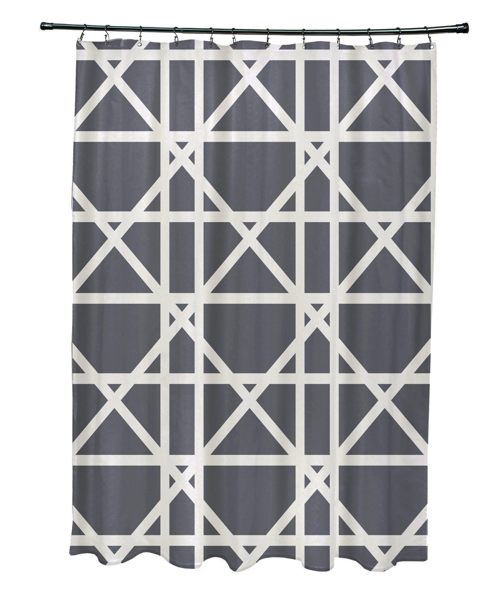 Osage trellis geometric print shower curtain products pinterest