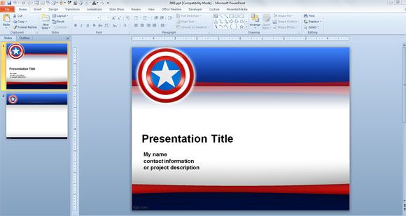 Free And Premium Powerpoint Templates For Independence Day July 4th